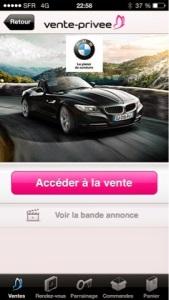 bmw sur vente-privee.com