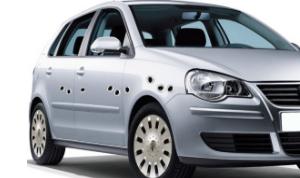 accessoire auto autocollants impact balle